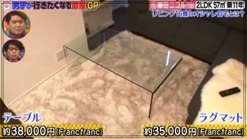 藤田ニコルの自宅マンションのリビング3