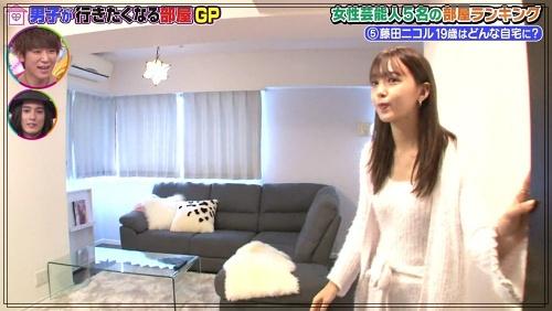 藤田ニコルの自宅マンションのリビング1