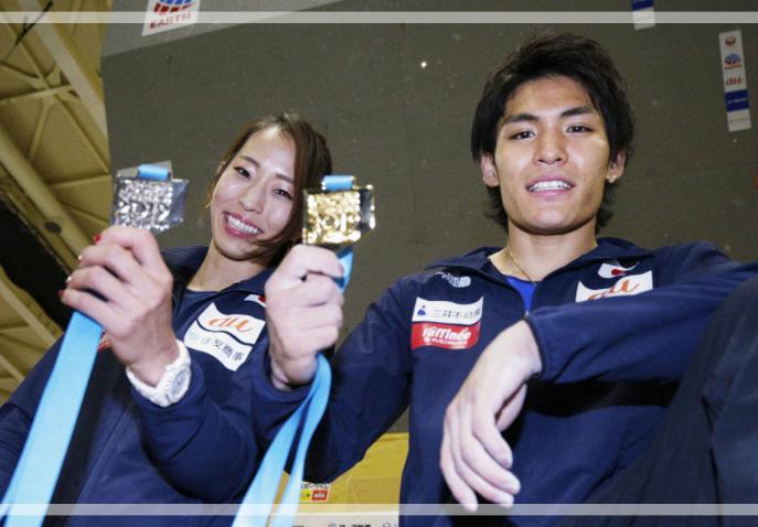 五輪代表、野口啓代さんと楢崎智亜さん