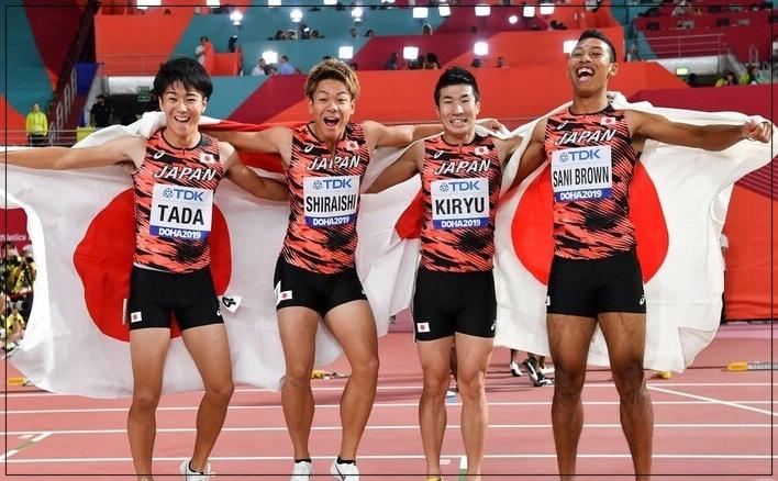 4×100メートルリレーメンバー