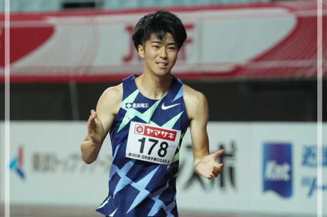 日本選手権で優勝した多田修平さん。