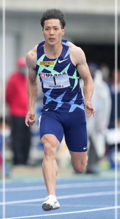 100m予選を走る山縣亮太さん。