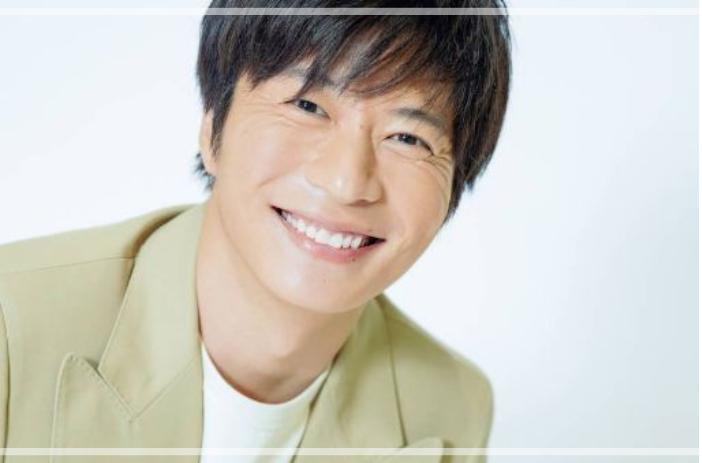 笑顔の田中圭さん。